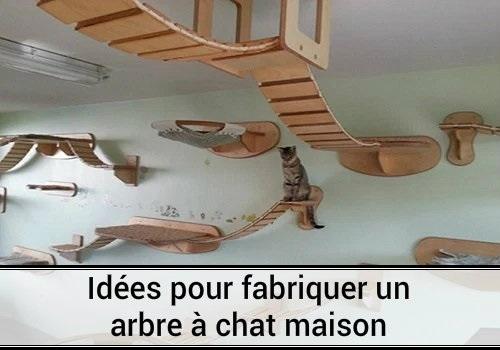 Id es pour fabriquer un arbre chat maison des hommes for Arbre maison jouet